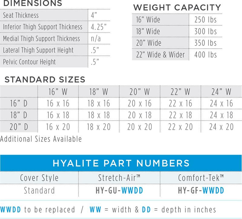 Hyalite Dimensions