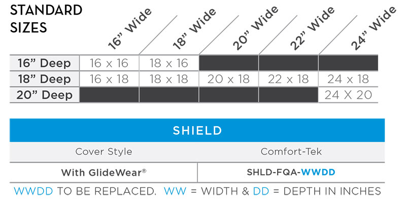 Shield Dimensions